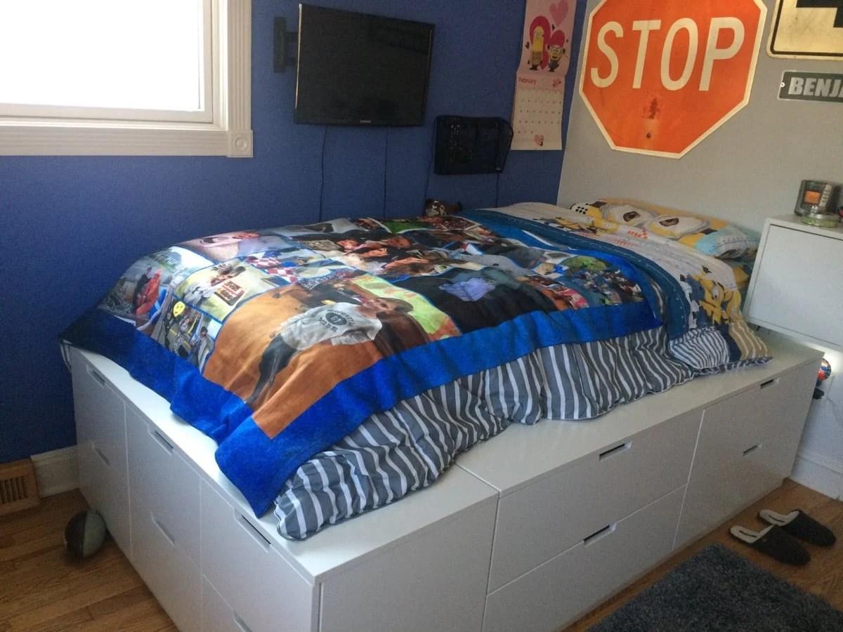 Lovely Nordli drawer platform bed