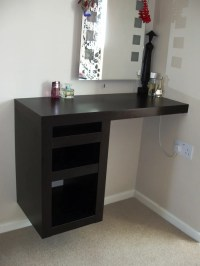 Old LACK Shelf to compact corner dressing table - IKEA ...