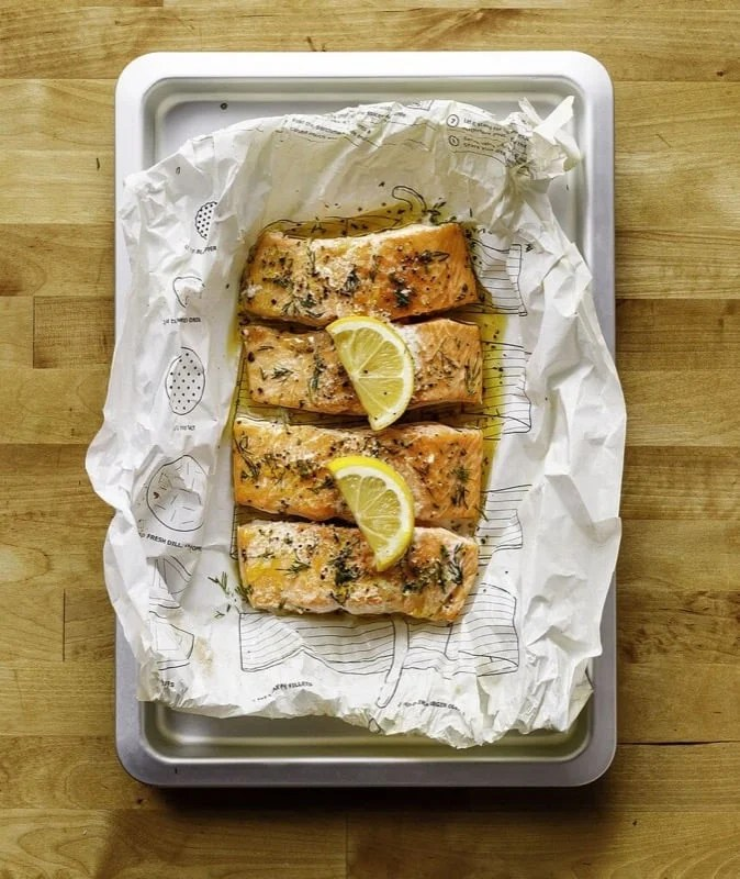 Cook this page IKEA parchment paper - cooked