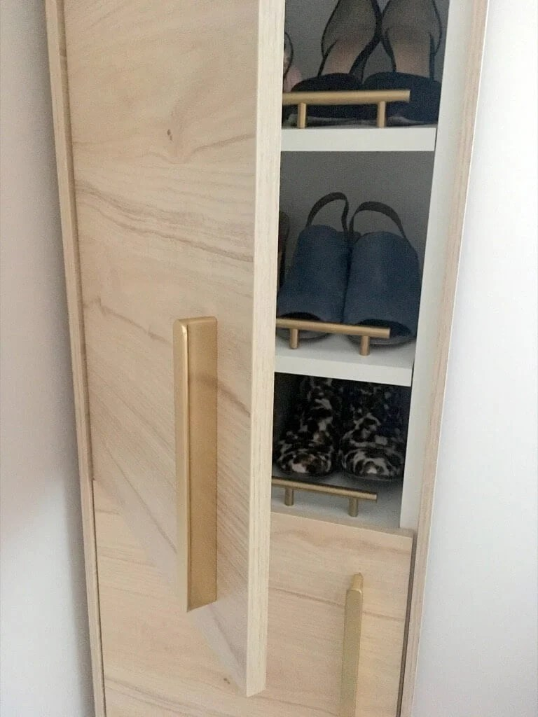 A classy tall shoe cabinet to fit into your entryway