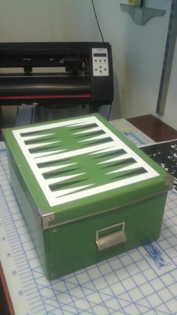 A simple box turned backgammon storage box