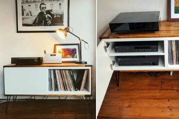Got BEST Covered A record player stand  IKEA Hackers