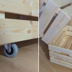 Kitchen Cart On Wheels Chicken Decor For Rolling Laundry Made From Knagglig Boxes - Ikea ...