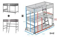 Triple bunk bed DIY