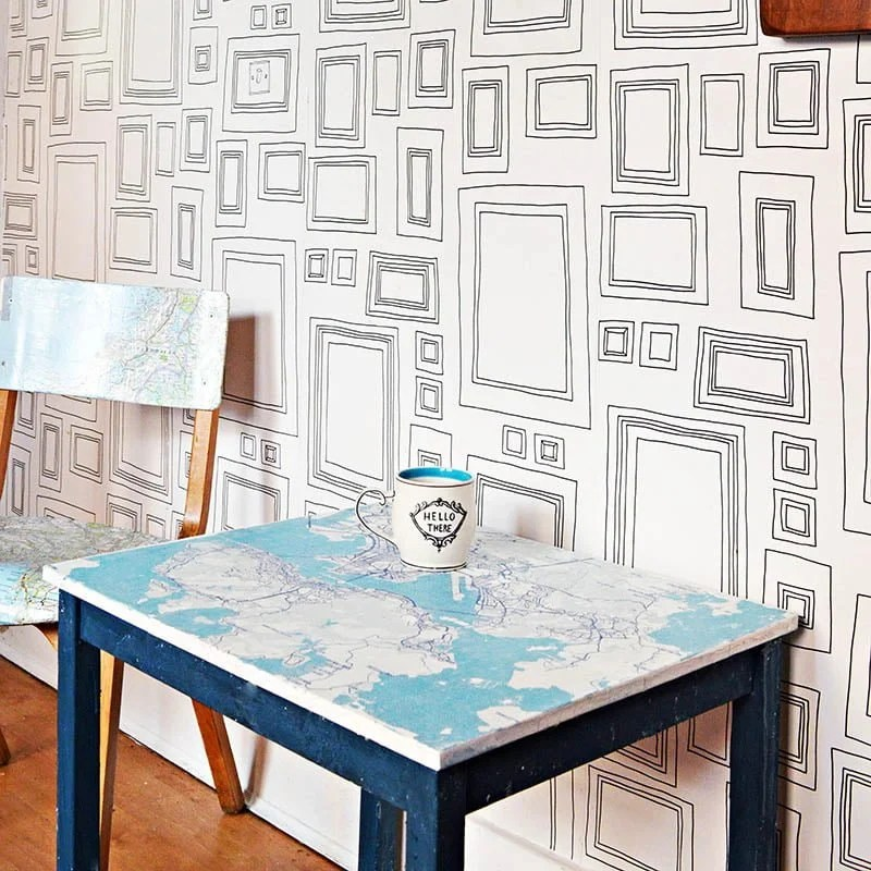 Fun IKEA Kids table hack with City Map of your choice