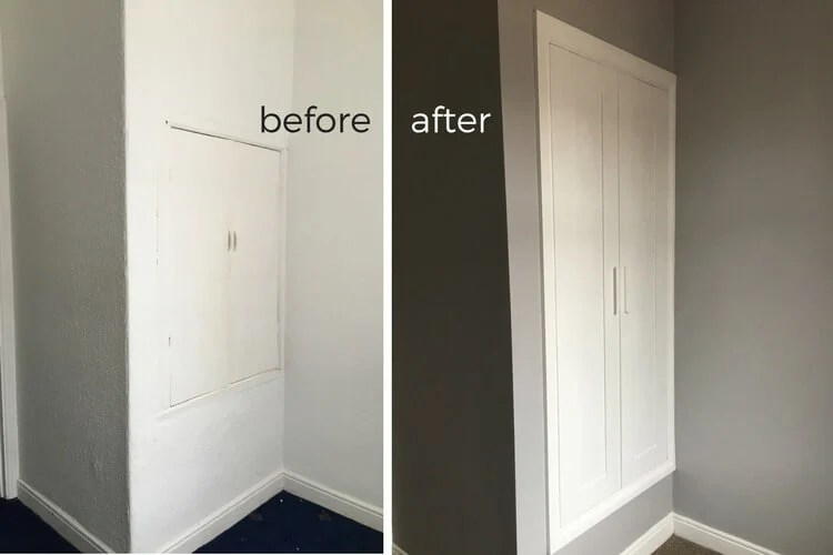 out with the old in with a new built in closet ikea hackers. Black Bedroom Furniture Sets. Home Design Ideas