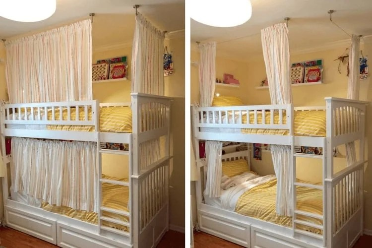 Superb Lightweight and breathable bunk bed curtains