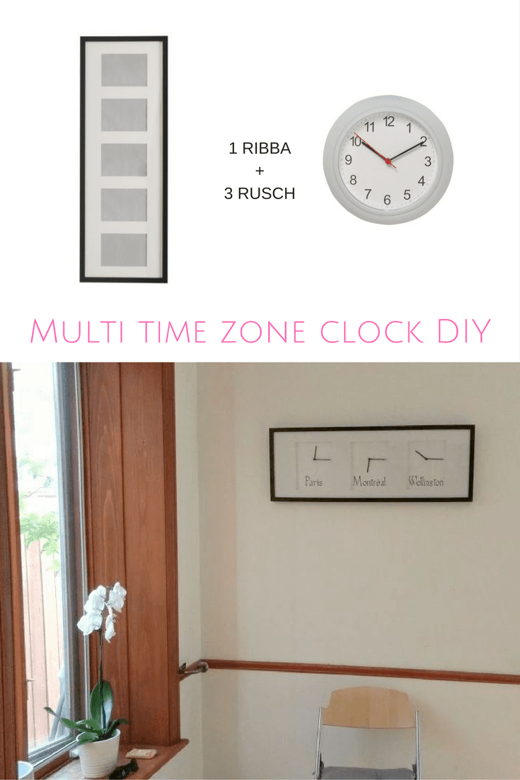 Multi Time Zone Wall Clock Diy Ikea Hackers