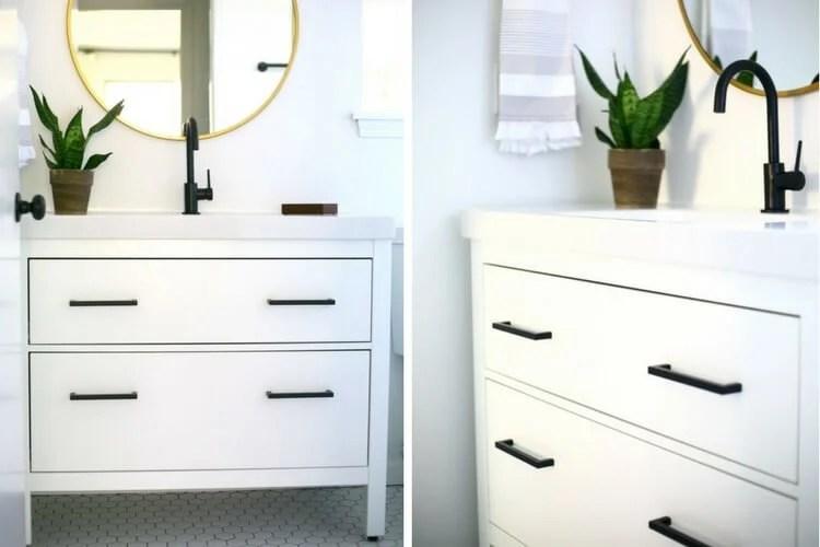 Hemnes Black And White Vanity Makeover Ikea Hackers