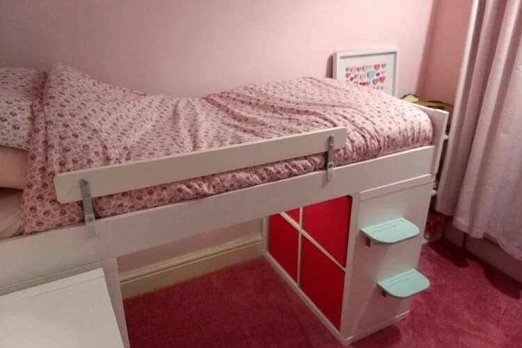 buy used kitchen cabinets tall bin krallax - the toddler mid-sleeper bed ikea hackers ...