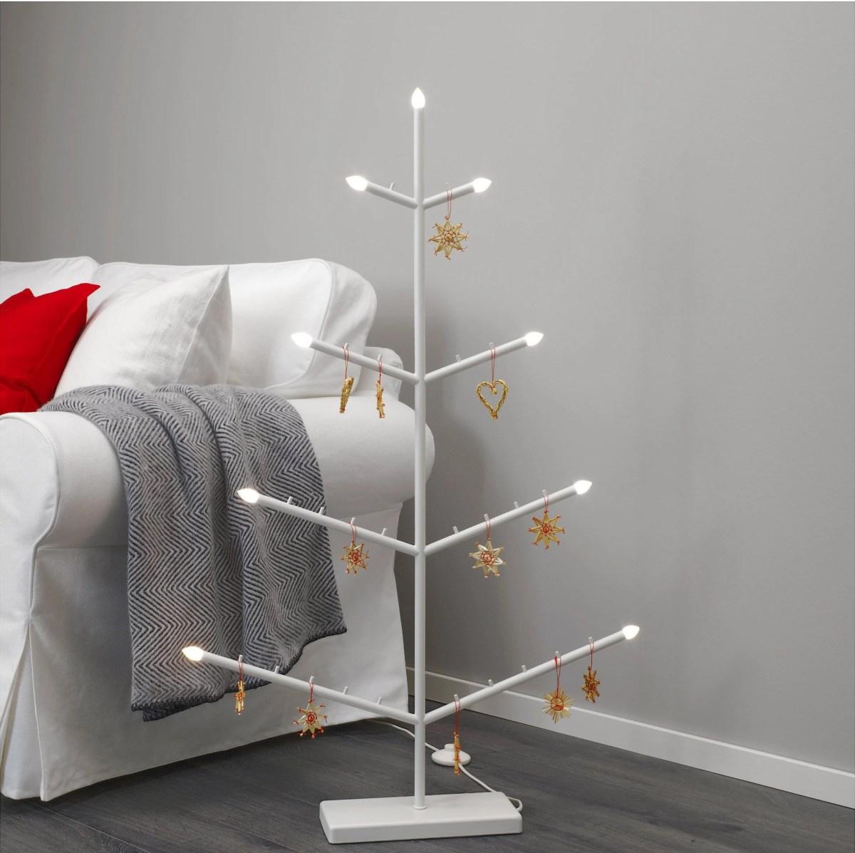 Strala LED floor standing candelabra