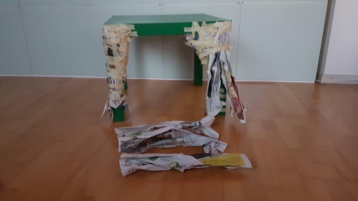 Papier Mache Table 2