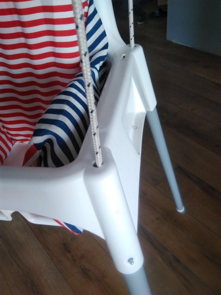 toddler chair with tray ergonomic uae swing hacked from an ikea high -- hackers