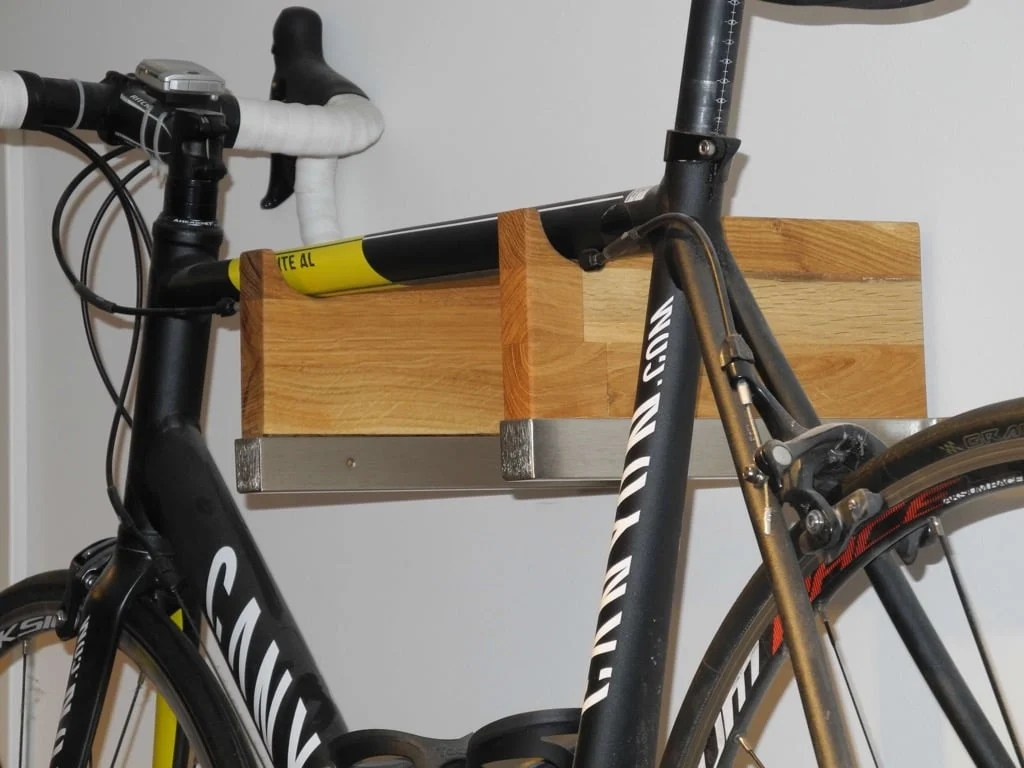 Bicycle Rack in Gorgeous Wood and Steel Combo