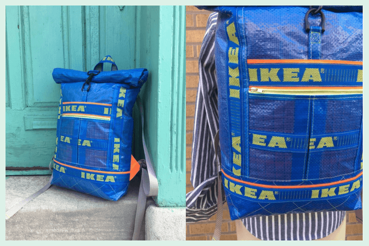 Sew Good A Roll Top Backpack From Ikea Blue Bags Ikea
