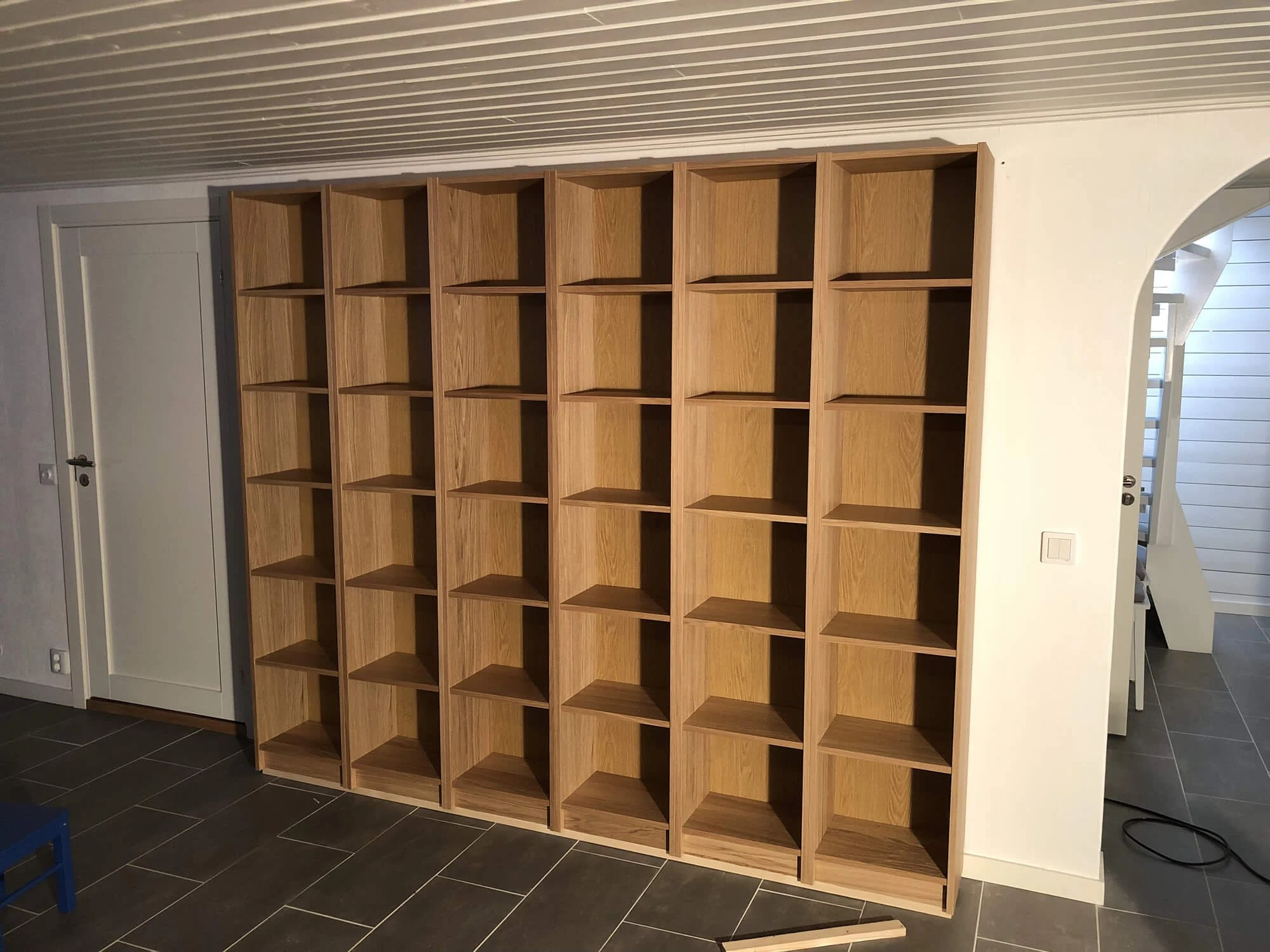 Ikea Bookcases Framed For The Basement Ikea Hackers