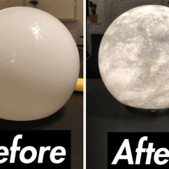 Yellow Kitchen Towels White Cast Iron Sink Want A Moon Lamp? Diy From An $25 Ikea Lamp - Hackers