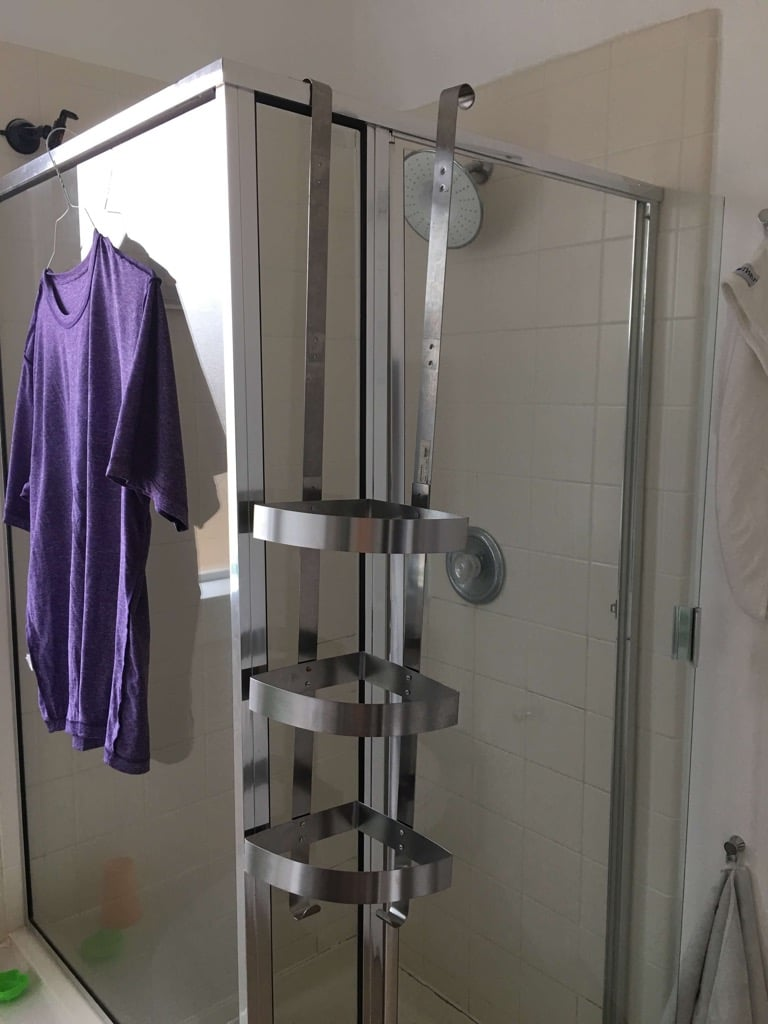 corner shower caddy the grundtal extra long version