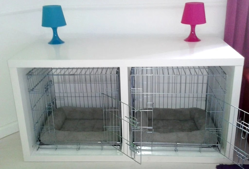 dog crate ikea malm desk hack