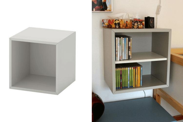 Eket Cd Rack How To Add A Shelf To The Cube Ikea Hackers