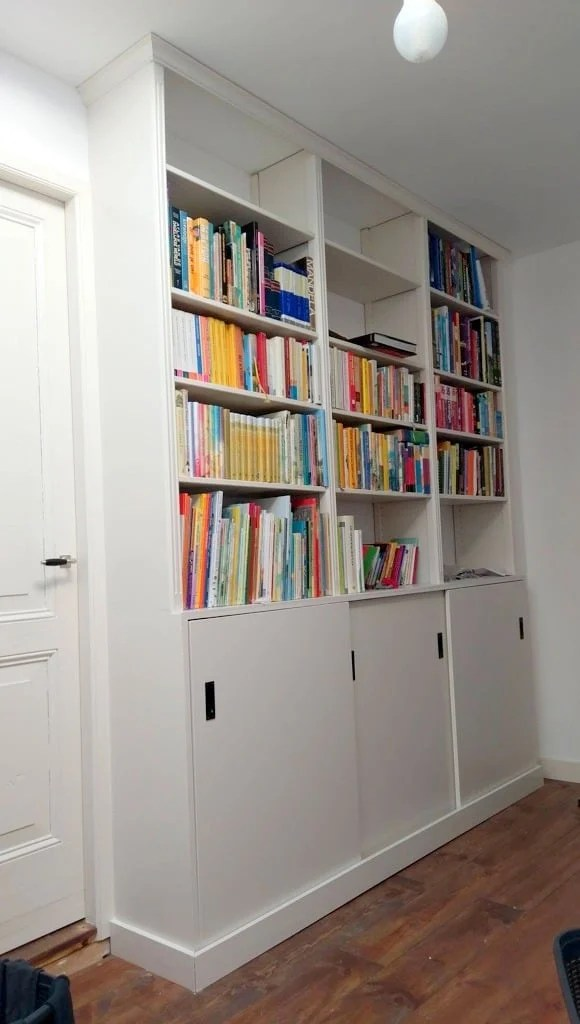 Full Height Built In Bookcase From Ivar Units Ikea Hackers