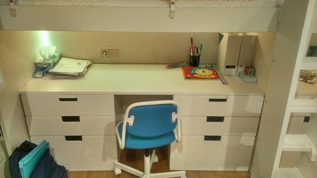 Loft beds using IKEA KRITTER kid's beds