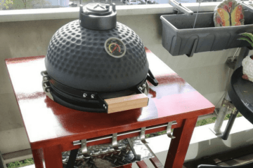 mini kamado bbq grill table