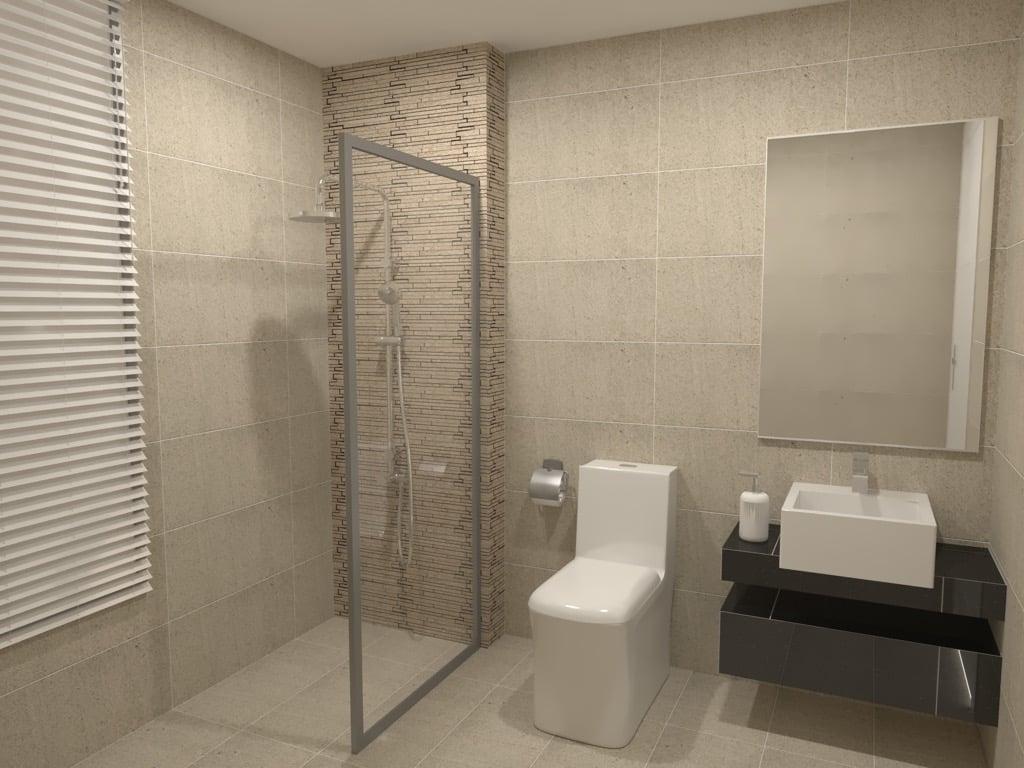 Feruni bathroom tiles sandstone