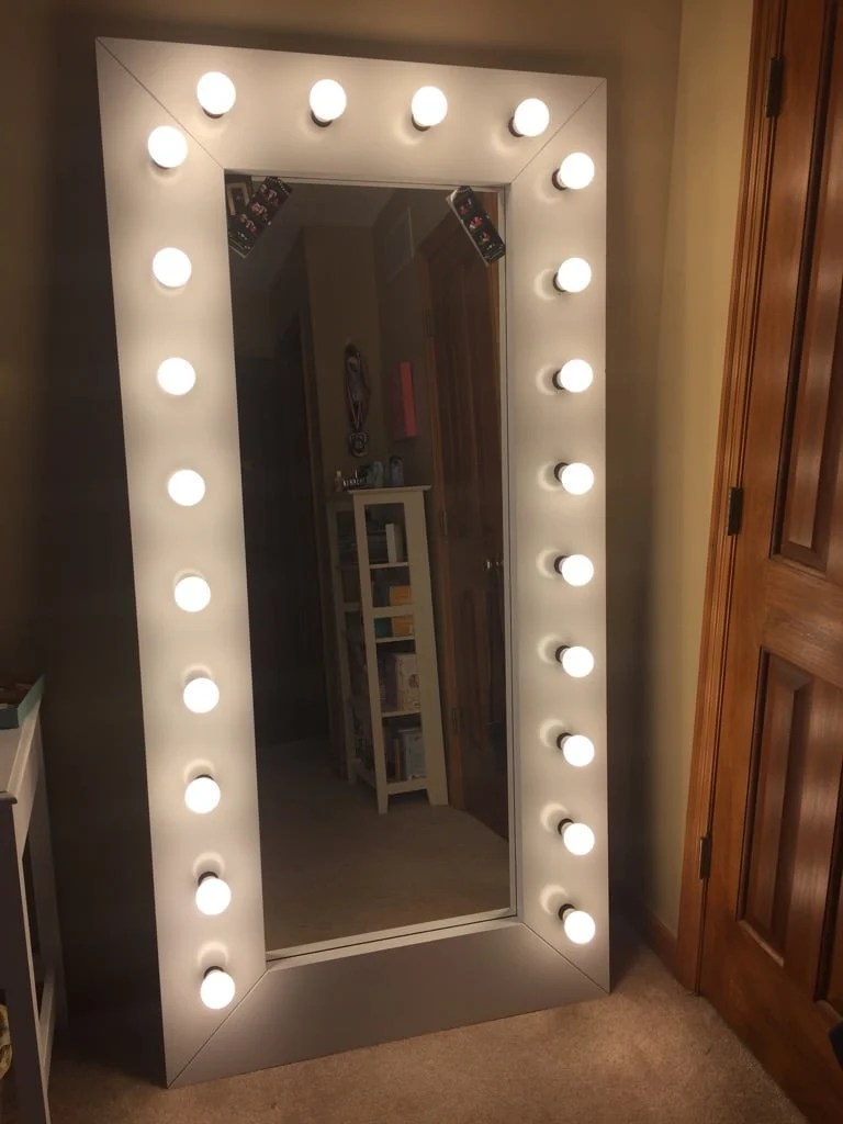 Full Length Vanity Selfie Mirror With Lights Ikea Hackers