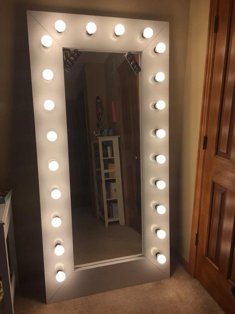 full length vanity   selfie mirror with lights