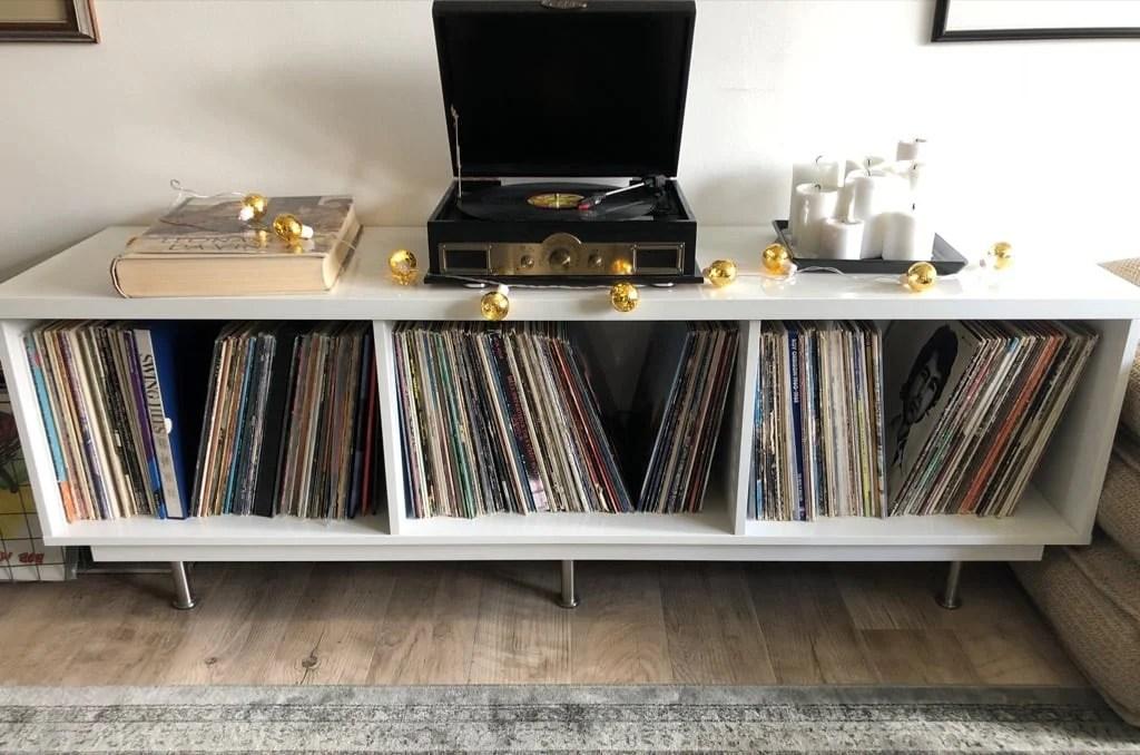 Low Rider Vinyl Record Shelf From Ikea Tv Unit Ikea Hackers