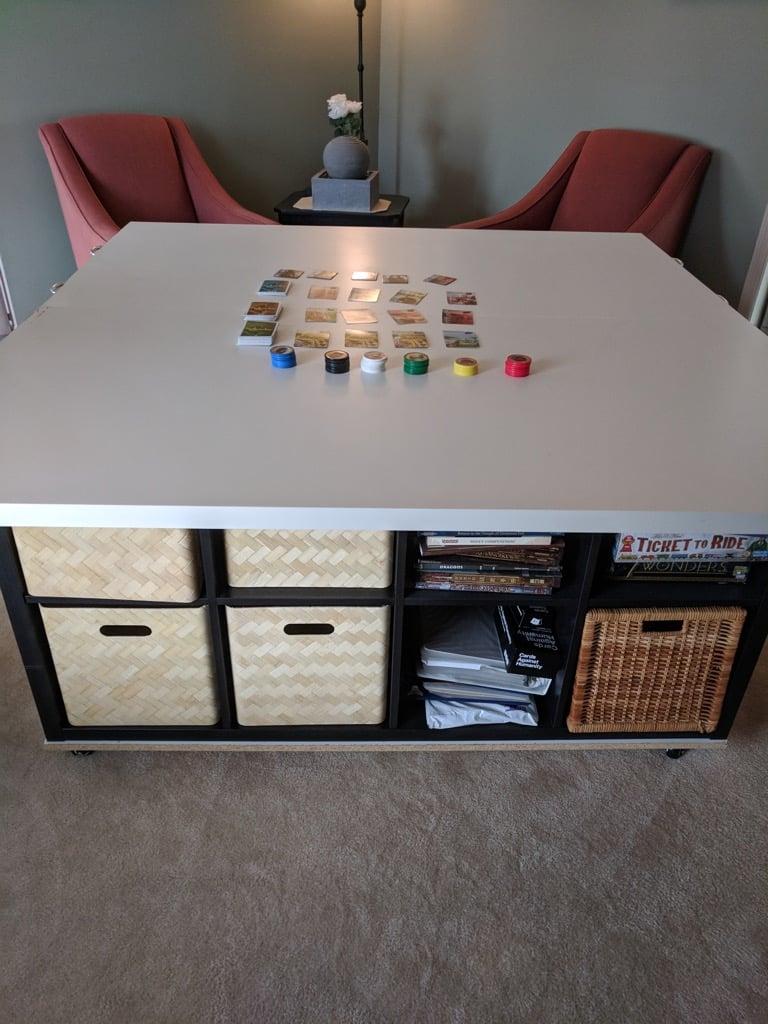 gaming table IKEA hack
