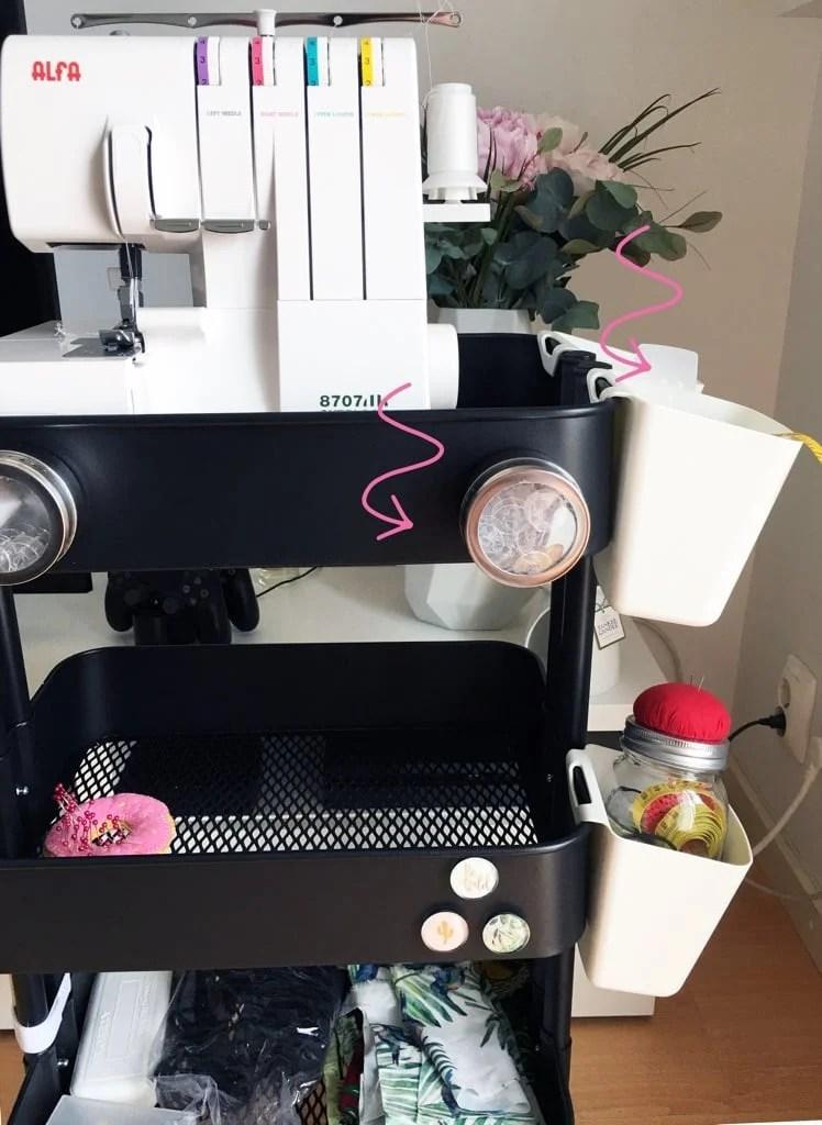 Handy Sewing Trolley - RÅSKOG cart hack