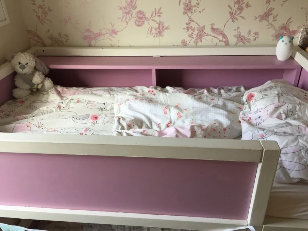 Toddler Bunk Bed Resized From Kura Loft Bed Ikea Hackers