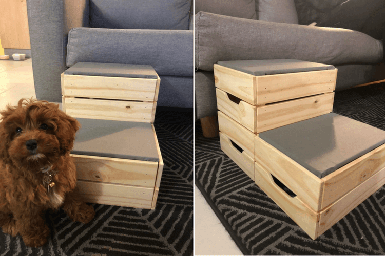 Small Dog Diy These Dog Steps From Ikea Crates Ikea Hackers