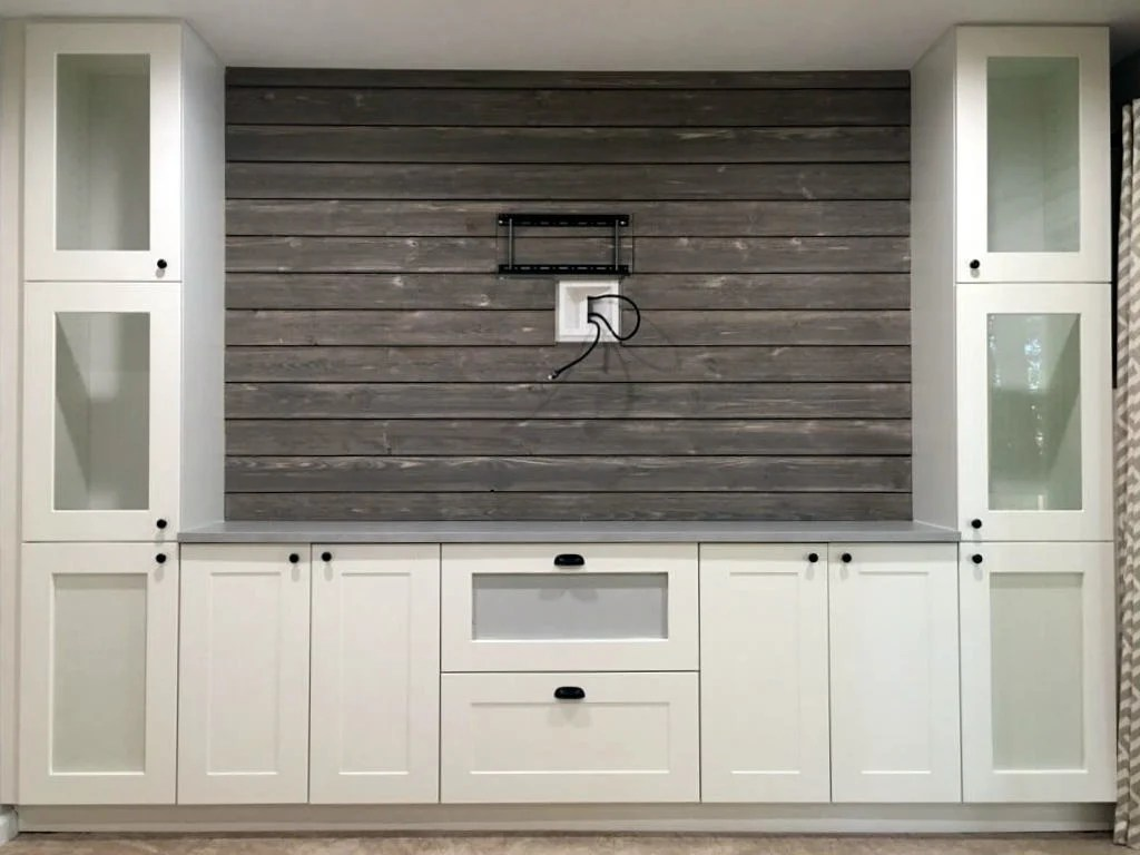 Shiplap Entertainment Center from IKEA kitchen cabinets | News for on ikea countertops, ikea bath, cheap kitchen cabinets, ikea dining cabinets, ikea craft cabinets, ikea kitchens us, ikea cabinet doors, kraftmaid kitchen cabinets, ikea storage ideas, custom kitchen cabinets, ikea hackers, metal kitchen cabinets, ikea storage cabinets, used kitchen cabinets, ikea kitchens before and after, ikea bedroom cabinets, wood kitchen cabinets, ikea shelves, kitchen cabinets wholesale, kitchen remodeling, ikea lighting, kitchen appliances, kitchen cabinet ideas, ikea microwave cabinet, ikea tv stands and cabinets, ikea bedding, kitchen cabinet doors, ikea living room, kitchen cabinet designs, ikea beds, ikea bathroom, ikea white cabinets,