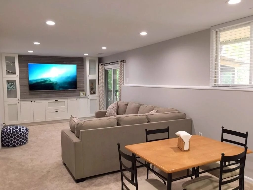 living room media furniture modern lighting ideas tv archives ikea hackers shiplap entertainment center from kitchen cabinets