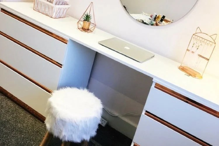 Rose Gold Dressing Table Ikea Hackers