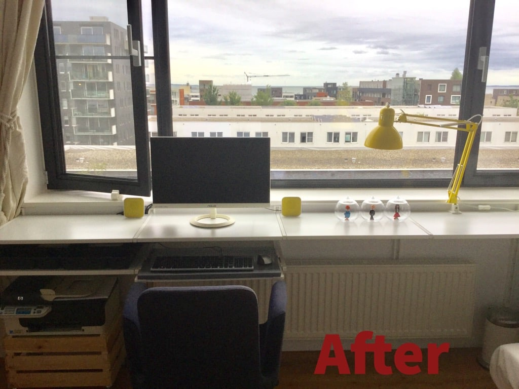 ALGOT desk with extendable desktop and keyboard tray