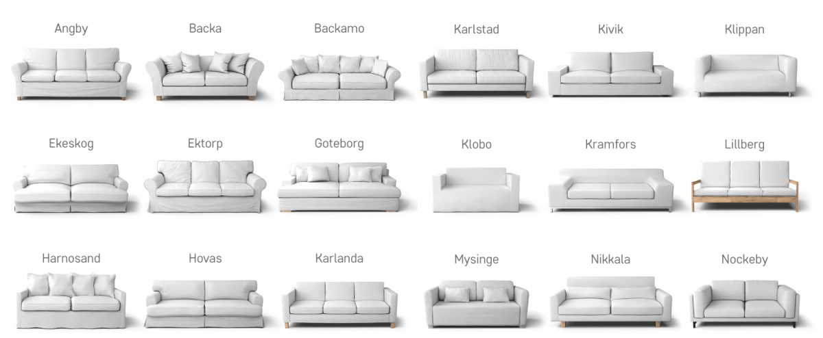 discontinued ikea sofas