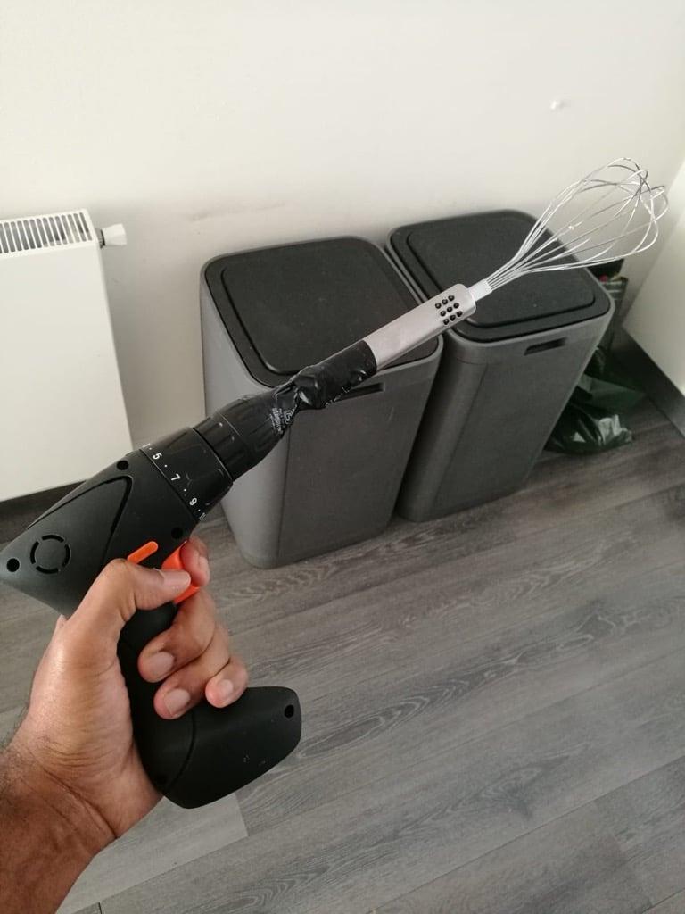 Hand Mixer IKEA FIXA drill hack