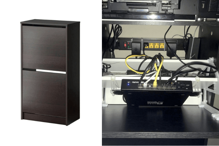 Never again let it all out. Make a discreet network cabinet.