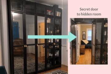 secret door to hidden room ikea billy hack