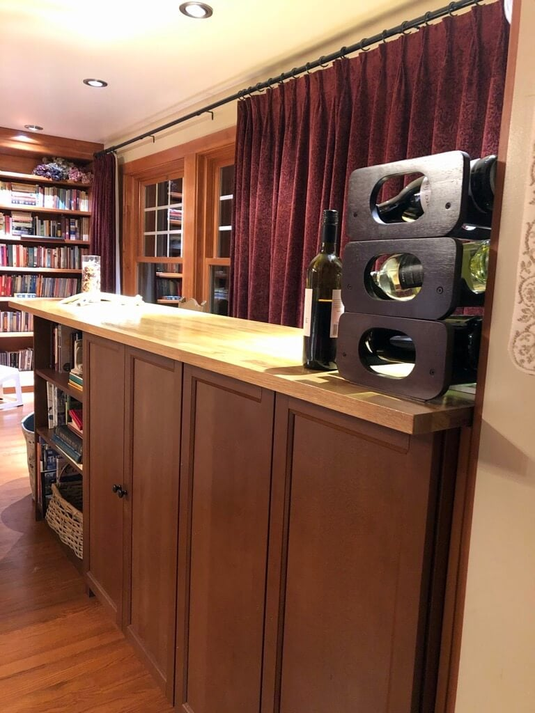 Builtin Home Bar Cabinet with IKEA BILLY  IKEA Hackers