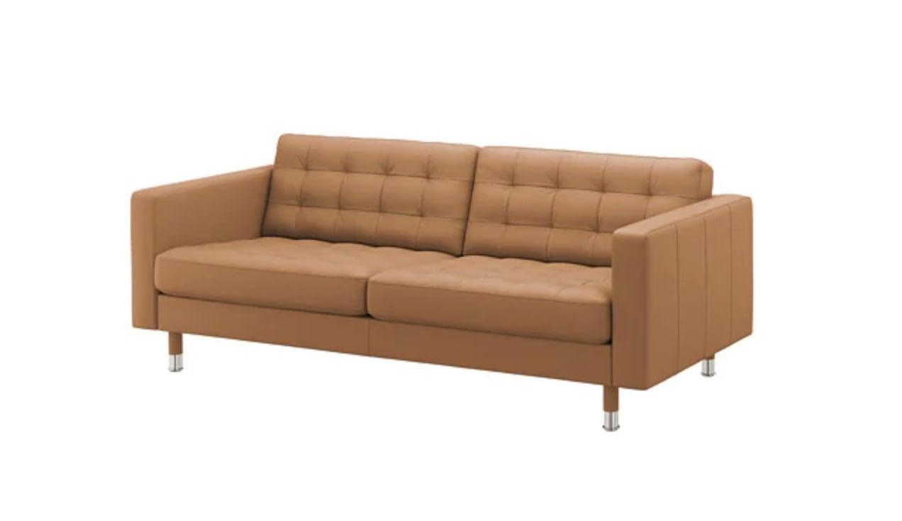 darken the landskrona leather sofa