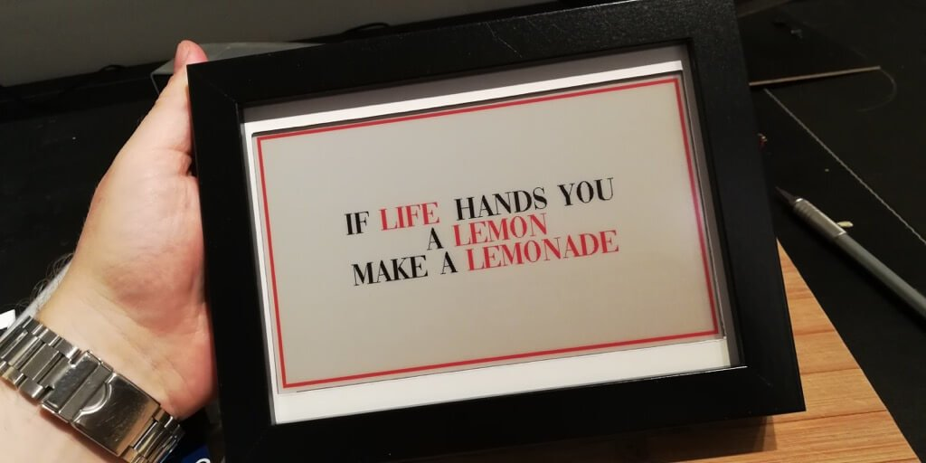 changeable daily inspirational quotes frame