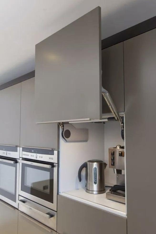 Flip up to reveal hidden kitchen