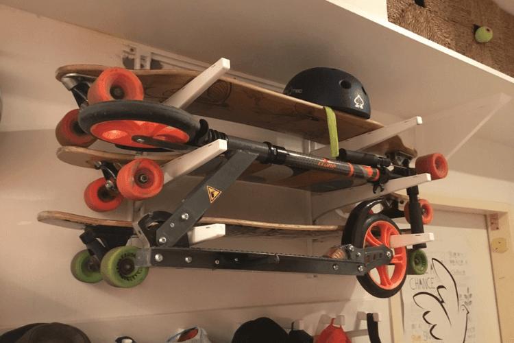 ikea hack a skateboard rack