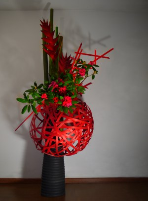Exitic large ikebana arrangement by Ekaterina Seehaus