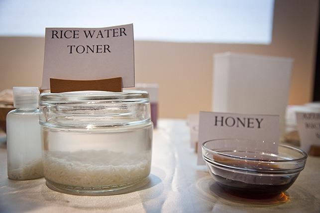Skincare Ingredients used in Ikeda Spa beauty workshop